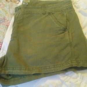 "J Crew Army Green 3"" Linen Cargo Shory"